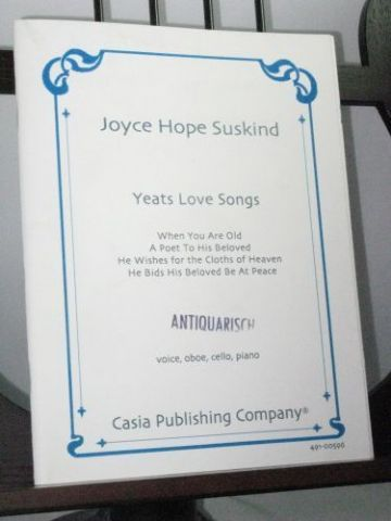 Suskind J H - Yeats Love Songs for Voice Oboe Cello & Piano